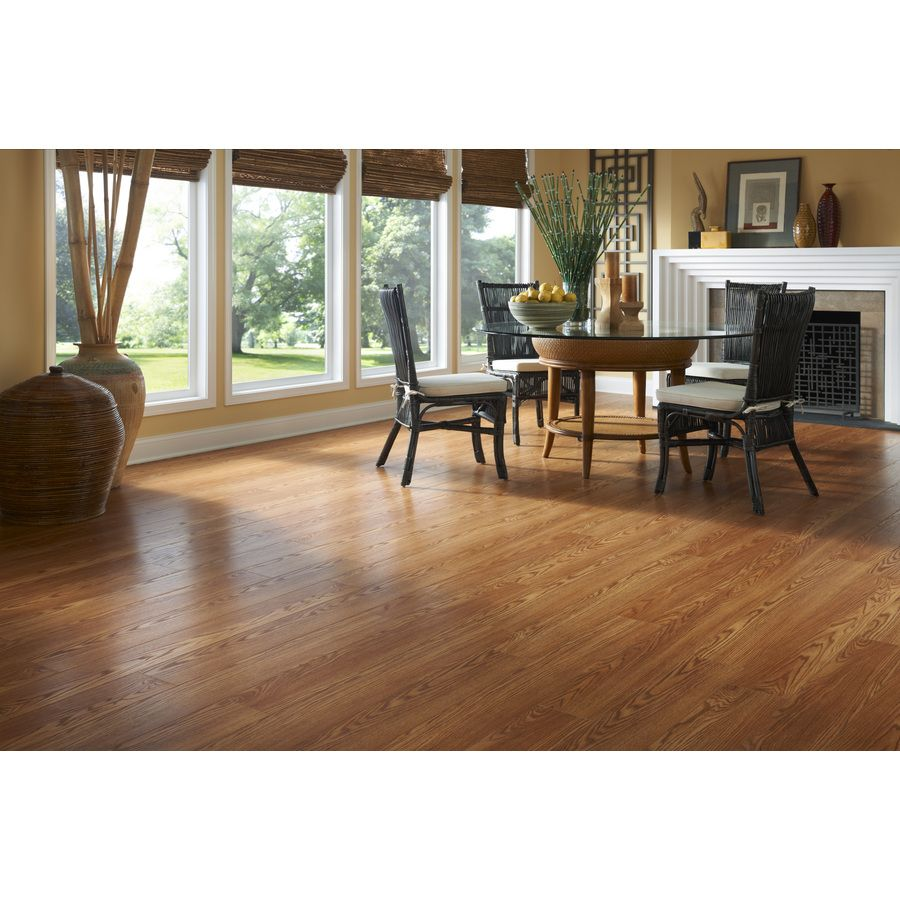 Style Selections 6 1 In W X 3 97 Ft L Westmont Oak Embossed Laminate