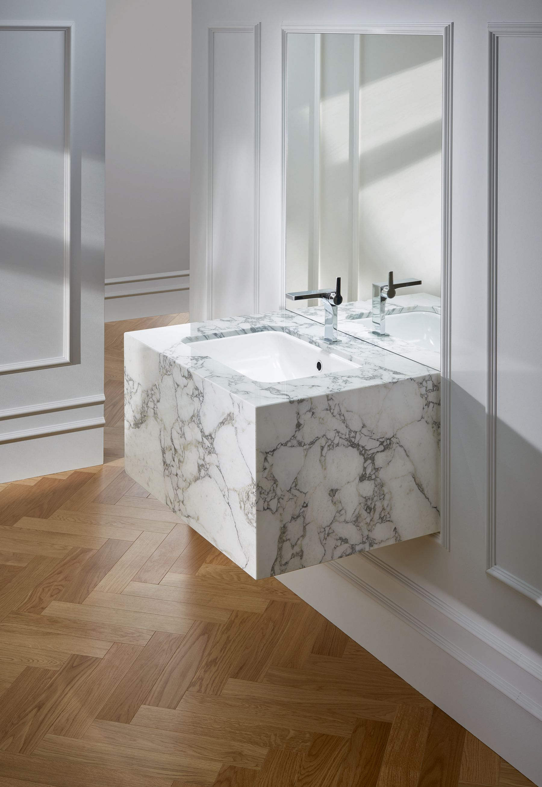 Badezimmer Set Novel Washbasin Undermountwashbasin Bathroom Marble Marmor Marmorbad