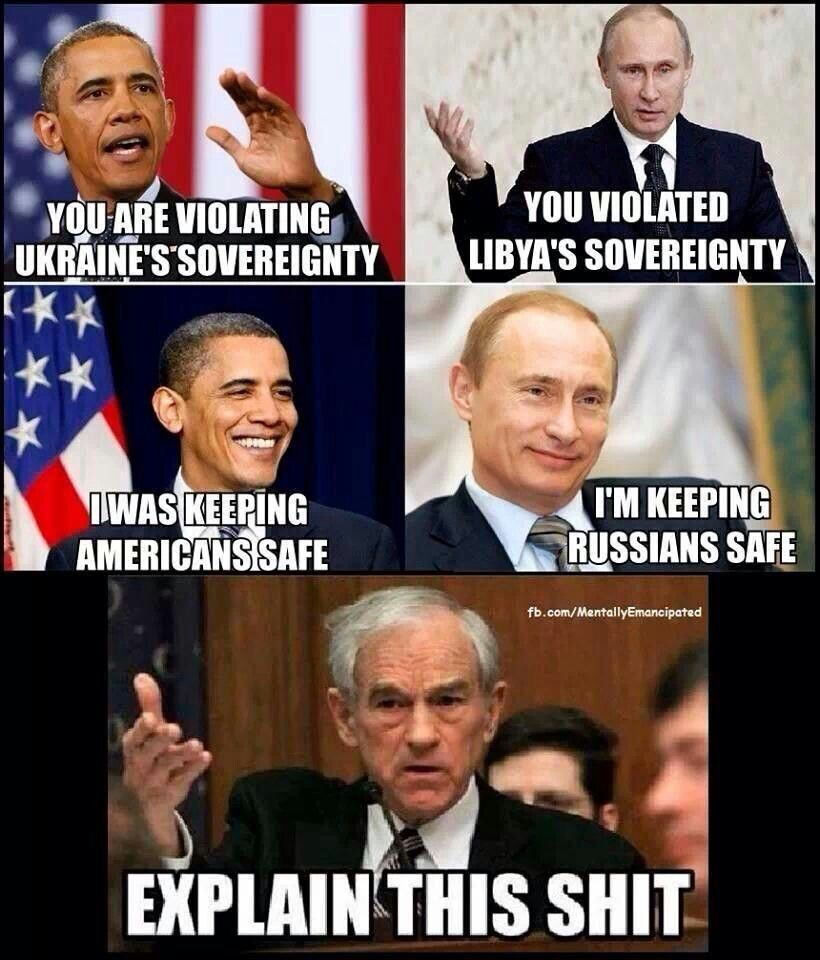 Its called our President is an effing hypocrite Putin vs