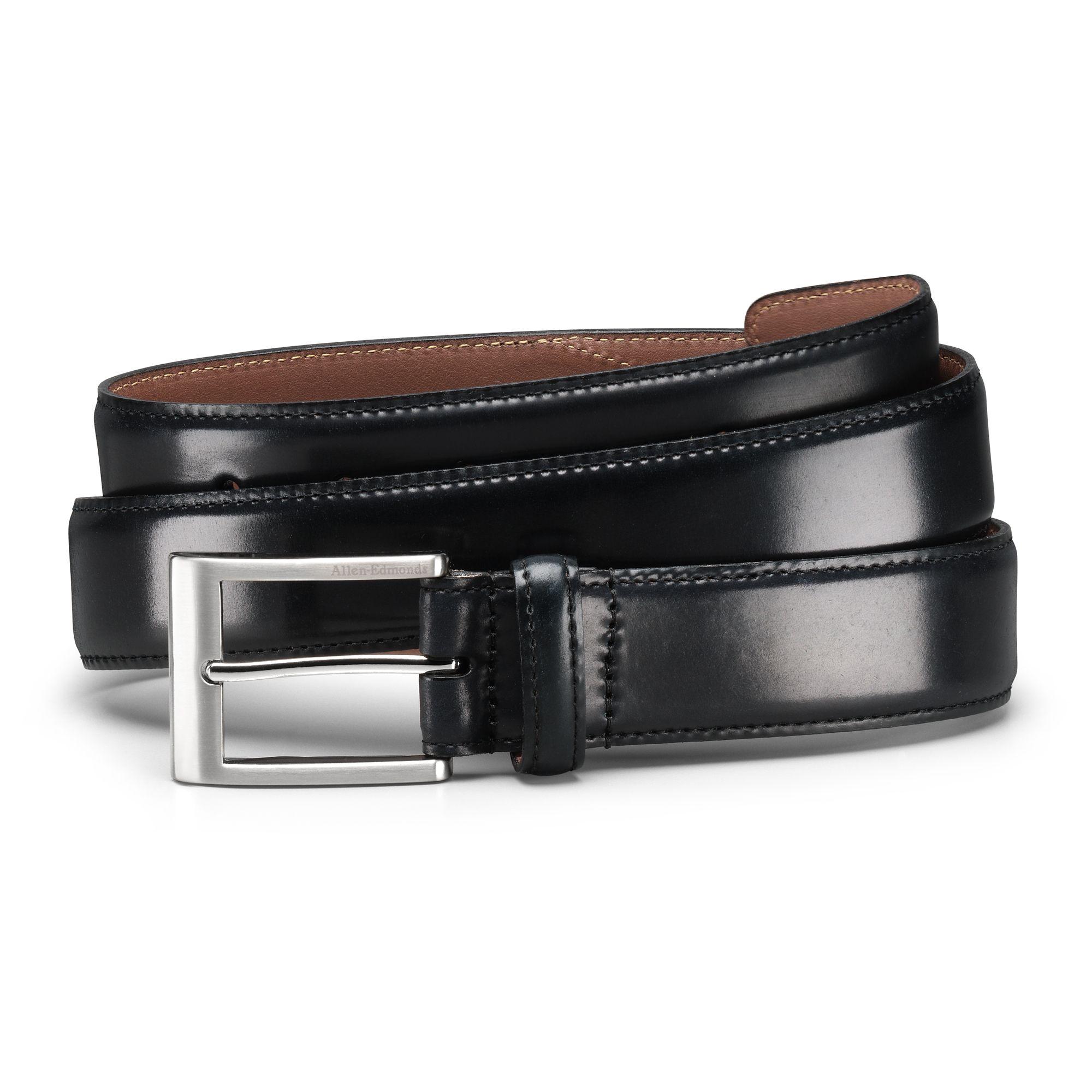 Allen Edmonds Black Horween Shell Cordovan Dress Belt 36