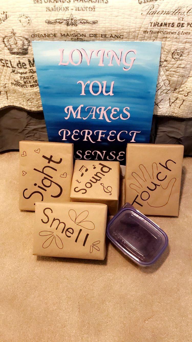 Senses Gift My Christmas Present For My Boyfriend Christmas Presents For Boyfriend Diy Anniversary Gifts For Him Presents For Boyfriend