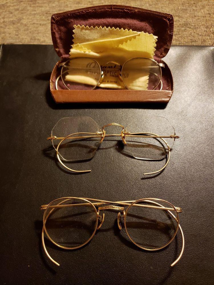 9835303b42e Vintage gold frame eyeglasses  fashion  clothing  shoes  accessories   vintage  vintageaccessories