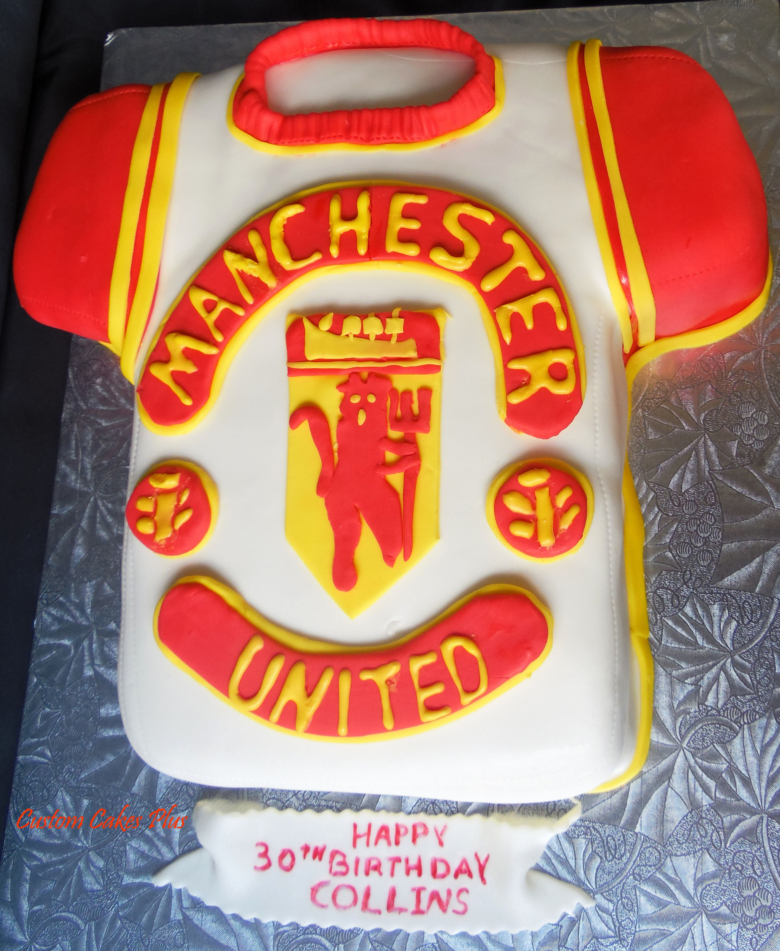 Manchester United T Shirt Birthday Cake Chocolate Drip Cake Shirt Cake Cake