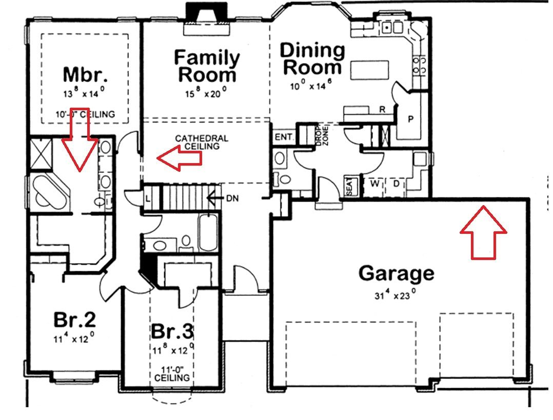 Crafty Ideas 4 2 Bedroom Bath Car Garage House Plans Arts