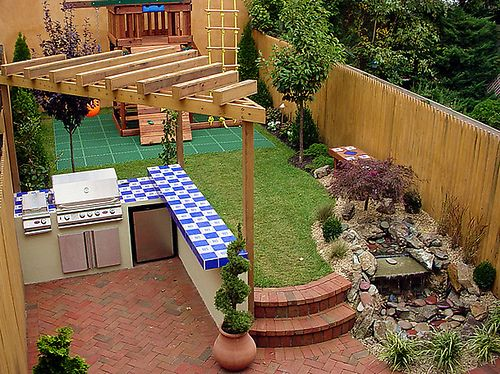 getting creative with a small backyard | | blissfully
