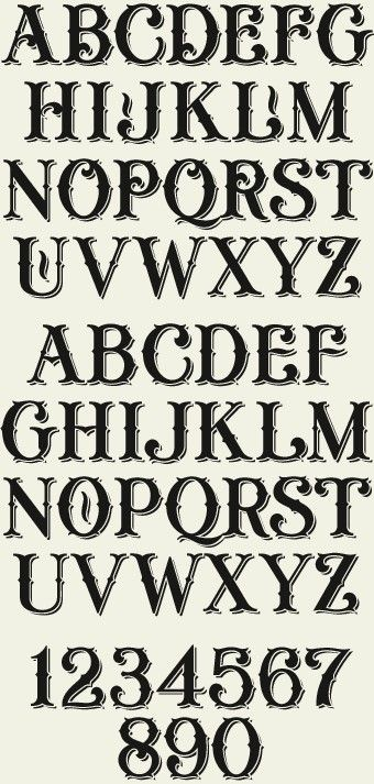 Lhf General Store Shadow An Old Fashioned Typeface Set Includes 4 Different Fonts Regular
