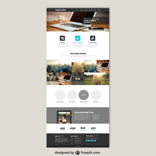 Site web de l\'entreprise modèle | Plantillas web, Vectores gratis y ...