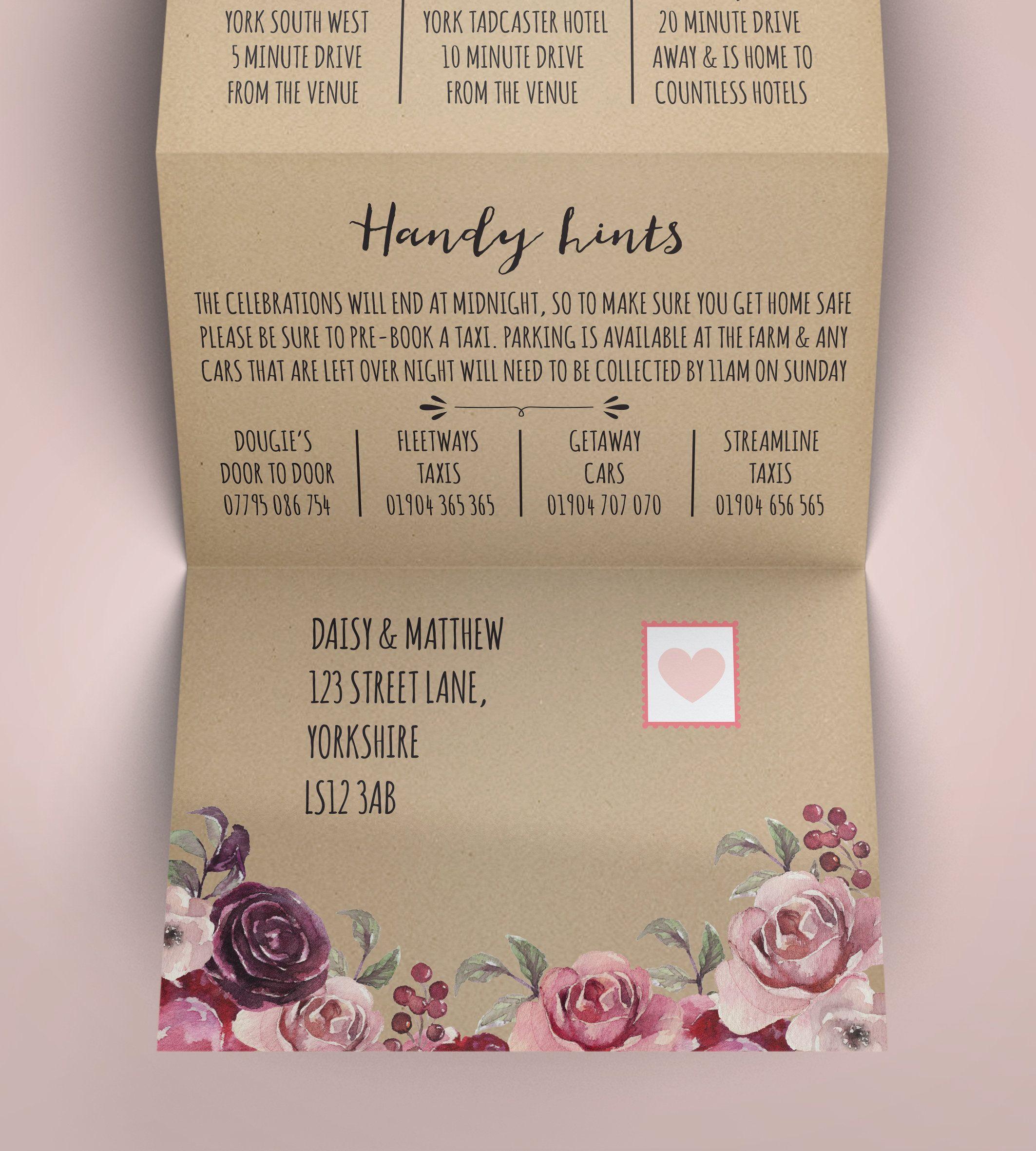 Folded Wedding Invitation Kraft Wedding Invitation Rustic | Etsy | Folded  wedding invitation, Kraft wedding invitations, Camping wedding invitations