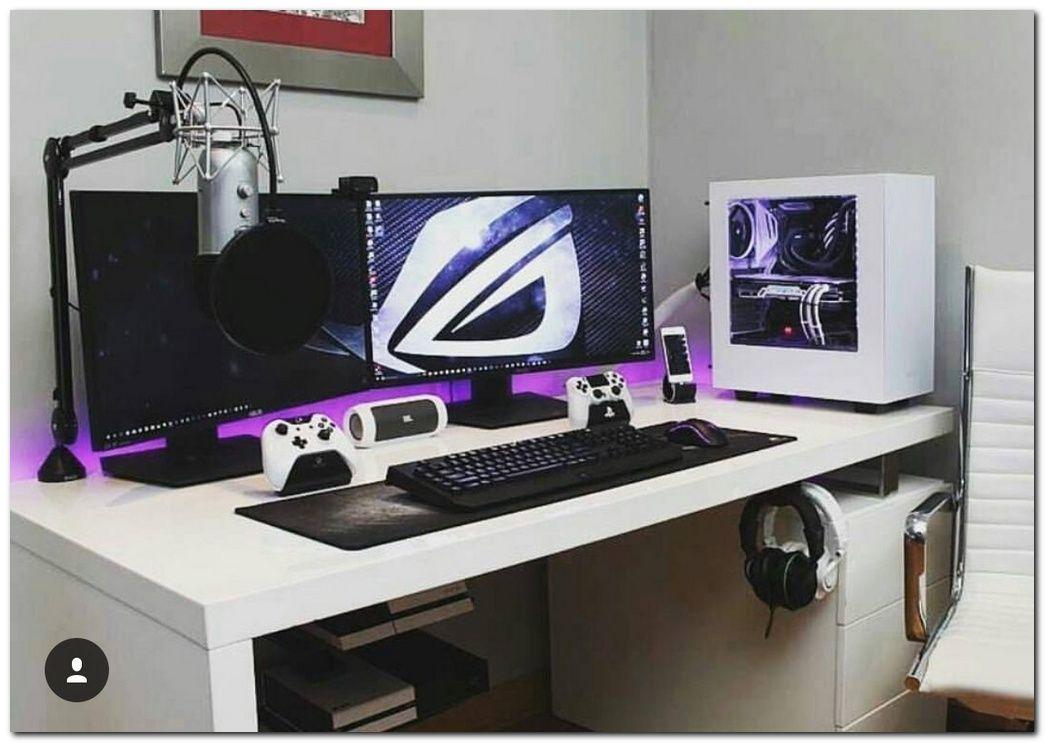 100 Cool Interior Design Ideas For Gamers Game Room Design Gaming Room Setup Computer Desk Setup
