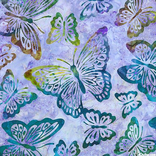 Enchanted 2 - Enchanted Butterfly Batik - - Quilt Fabrics From Www.eQuilter.com