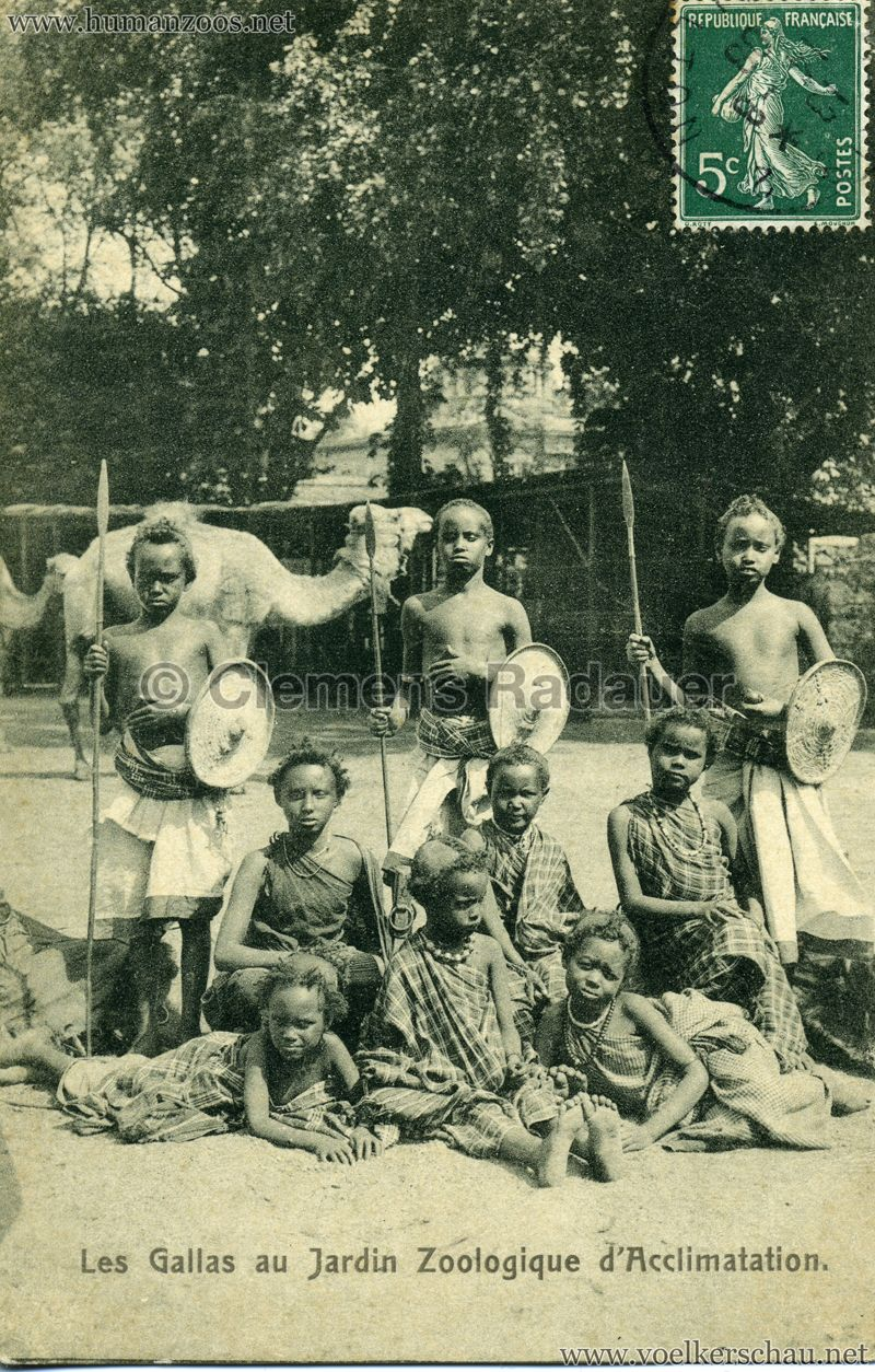 1908 Les Gallas Jardin D Acclimatation 1 Human Zoo Photo