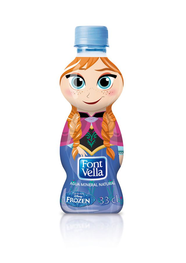 Envase de Font Vella con personaje de Frozen.