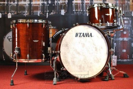 Tama Star Walnut 3pc Rock Drum Set Dark Mocha Walnut Magnificent
