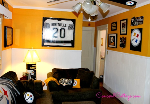 Pittsburgh Steelers Family Room, Steelers Decor, Football Room,  Concordcottage.com