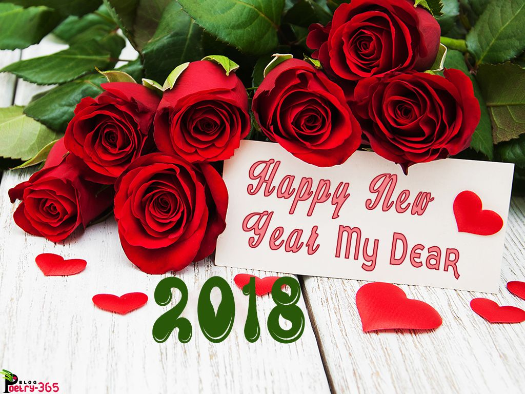 happy new year images happy new year 2018 different flowers cute backgrounds