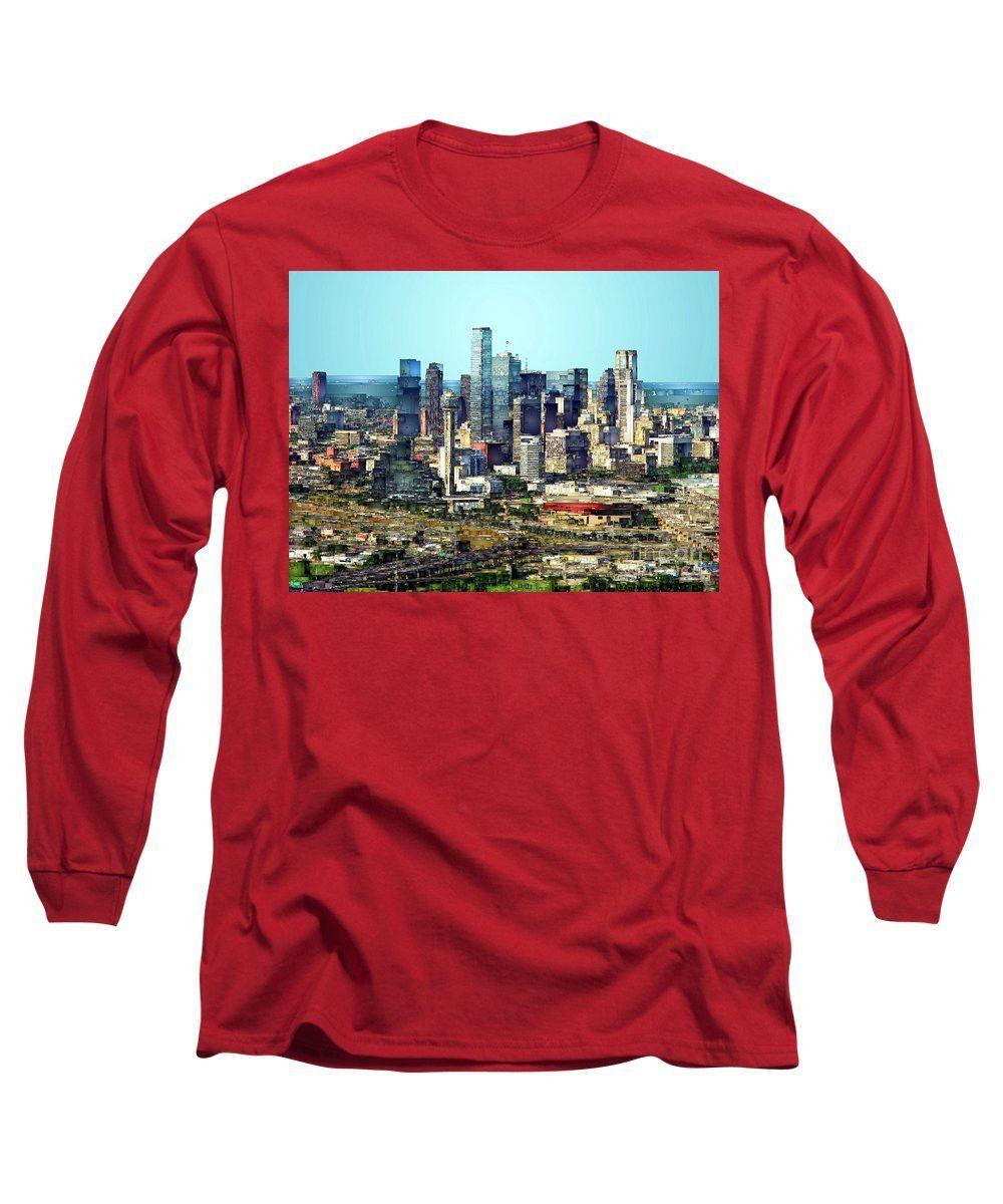 Long Sleeve T-Shirt - Dallas Skyline