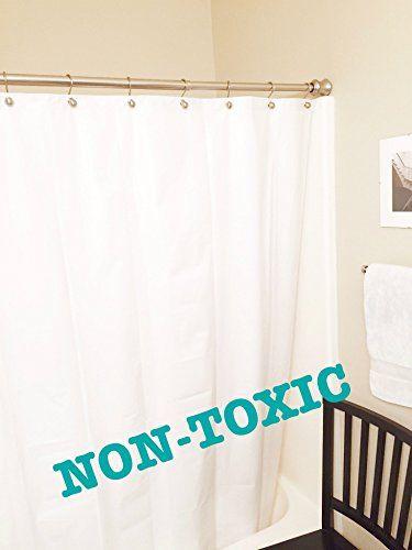 Premium Peva Shower Liner White Odorless Non Toxic Mildew
