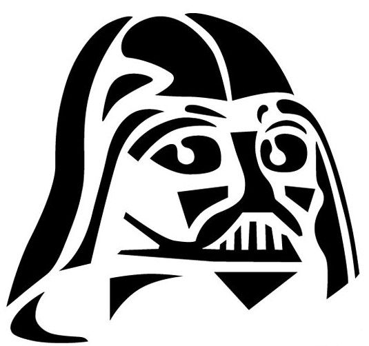 Pumpkin Carving Templates: Darth Vader Carving Template For