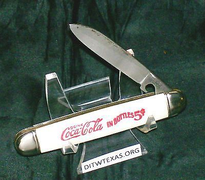 Imperial Trick Knife Mother Of Pearl Coca Cola Trapper 3-1/8 Closed Works Great @ ditwtexas.webstoreplace.com