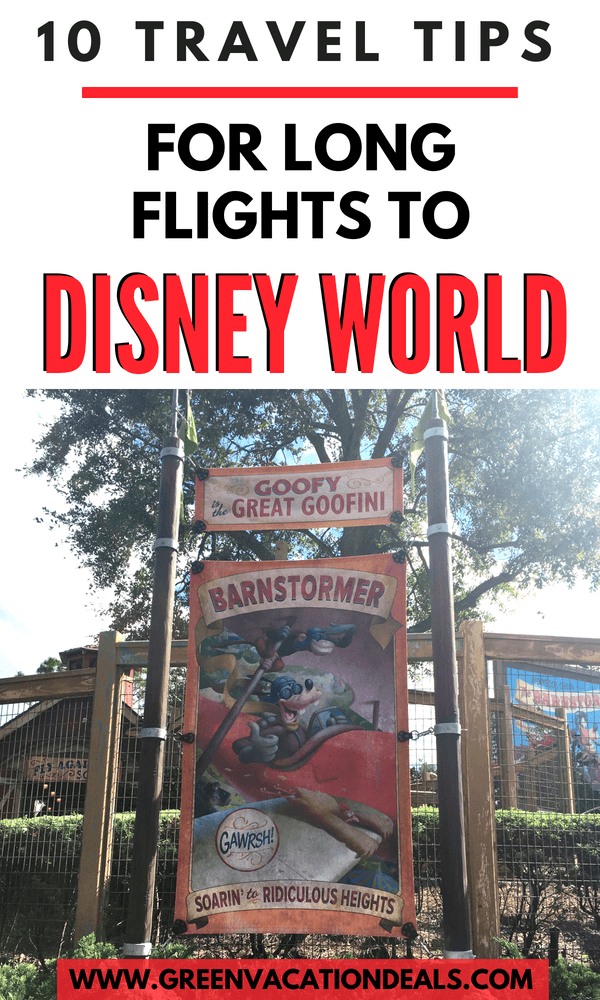10 Travel Tips for Long Flights to Disney World | Green Vacation Deals