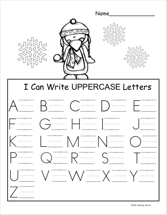 Free Winter Kindergarten Letter Writing Worksheet Madebyteachers Letter Writing Kindergarten Kindergarten Letters Preschool Writing