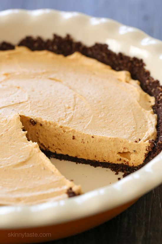 Light Pumpkin Spice No Bake Cheesecake U2013 An Easy, Light, Fall Dessert!