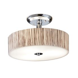 allen roth 18 in Polished Chrome Clear Glass Semi Flush Mount