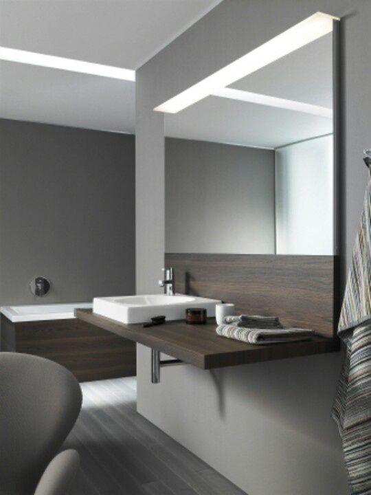 Fabulous LED Spiegelbeleuchtung Indirektes Licht f r au ergew hnlich angenehmes Ambiente im Badezimmer