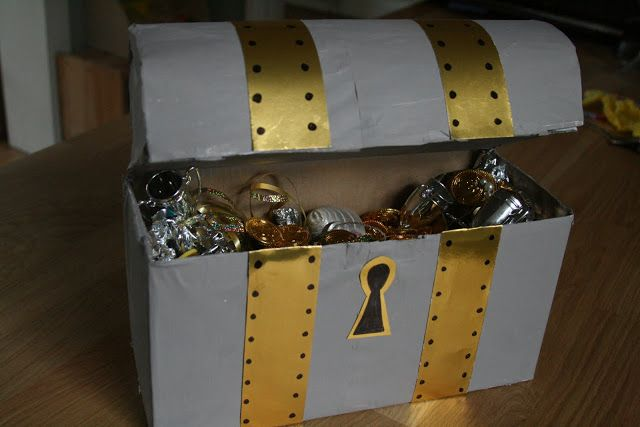 Diy Treasure Chest Work Treasure Chest Craft Pirate