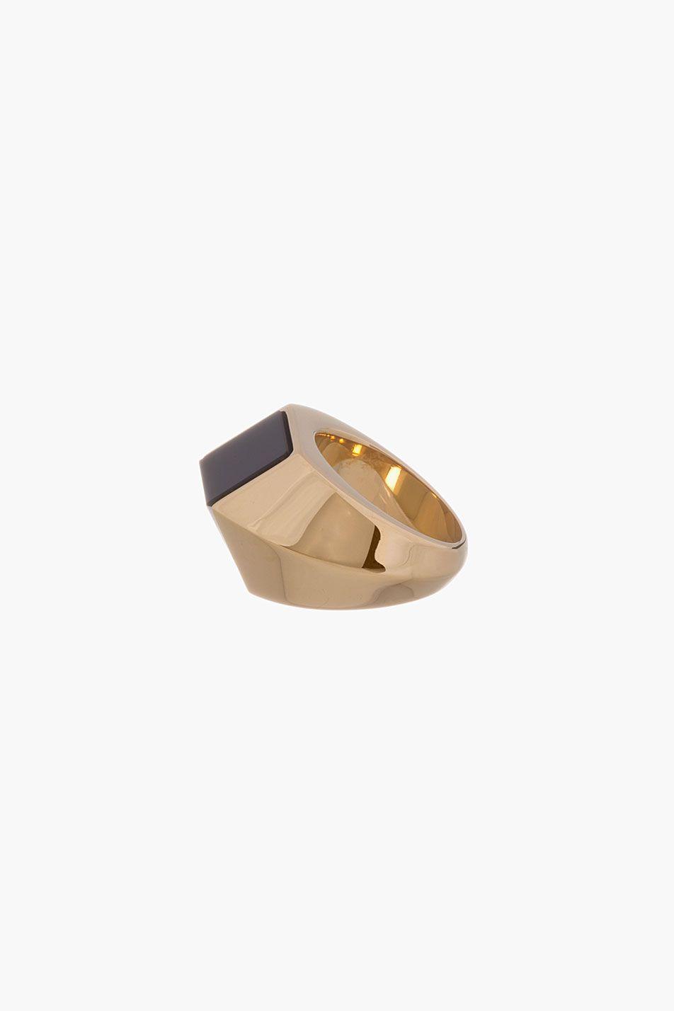 Saint laurent black u white opium ring modern jewels pinterest