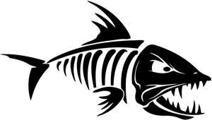 fish skeleton decal sticker general fly tying pinterest rh pinterest ch