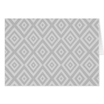 Abstract Geometric Pattern  Gray Card  Holiday Card Diy