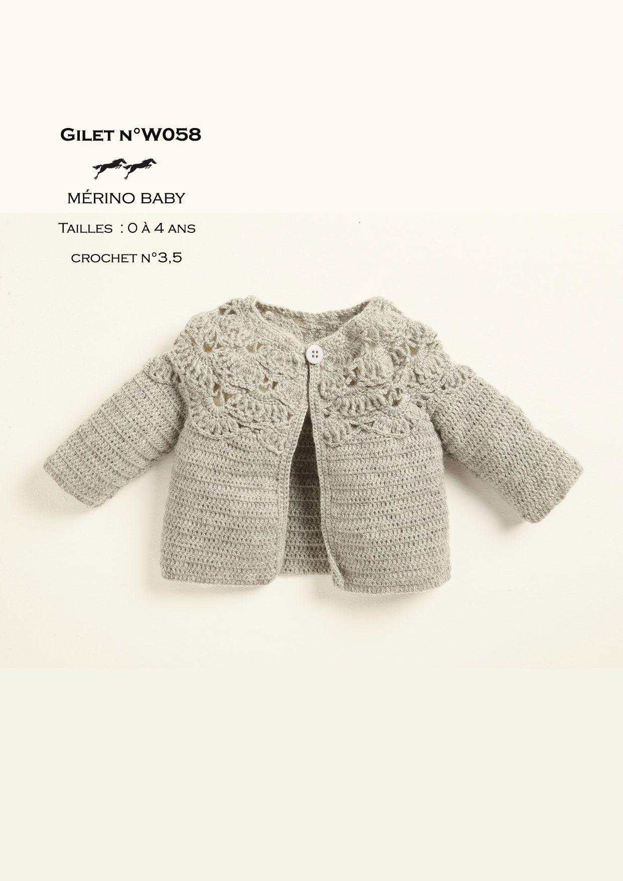 Patron crochet layette | Patron tricot gratuit, Modele tricot layette gratuit, Patron tricot