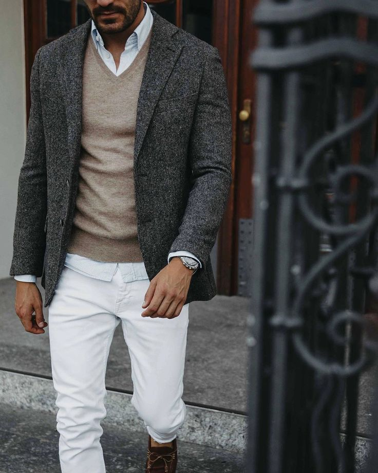 Fall Outfit Ideas for Men Winter outfits men, Brown