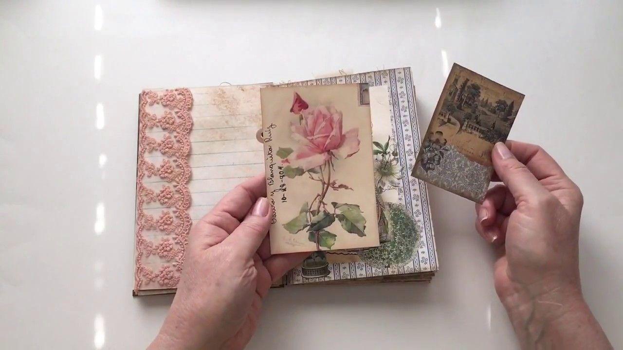 Vintage Garden Journal Dt Project For Mind Barretty Youtube Handmade Journals Mini Albums Junk Art
