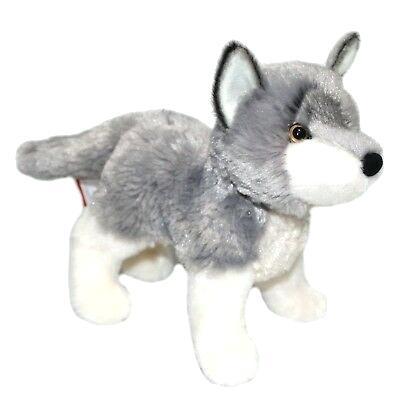 Stuffed Animal Wolves Ashes Gray Wolf Plush 8 Realistic