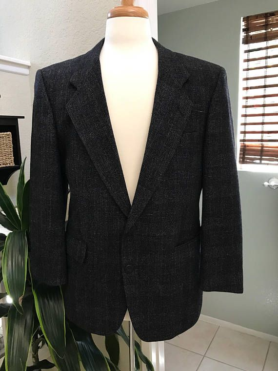 C&R Clothiers Cardiff Navy Blue Men's Wool Jacket  Size