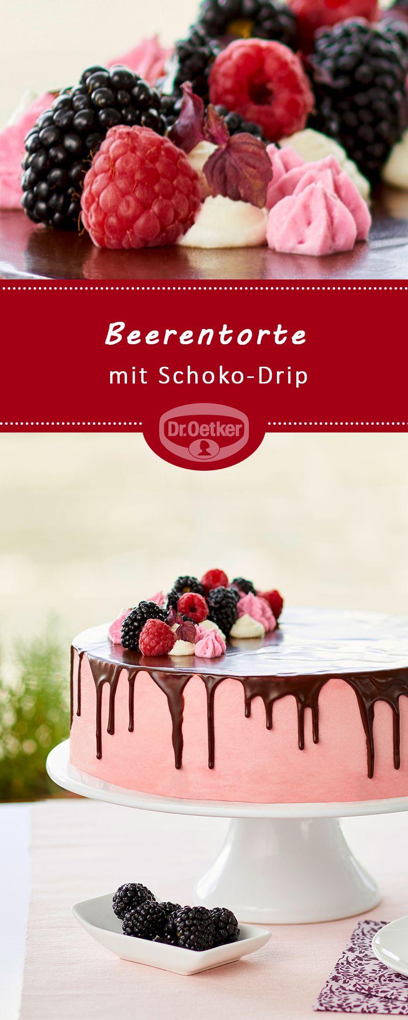 Beerentorte mit Schoko-Drip #tortenrezepte