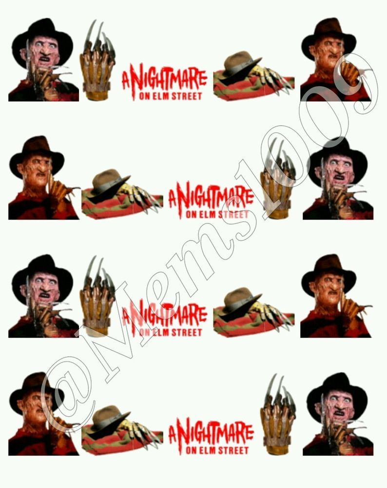 Details About Freddy Krueger Nail Decals Water Decals Nightmare On