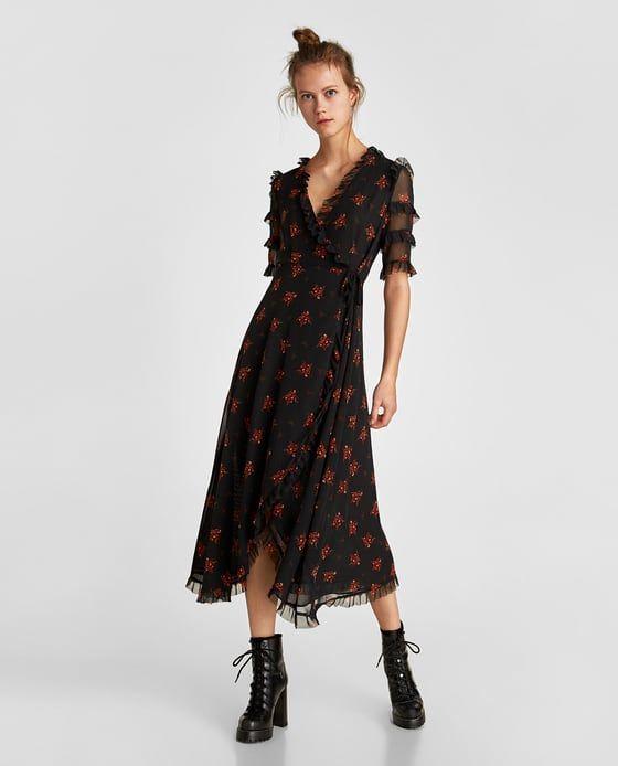 Robe longue femme portefeuille