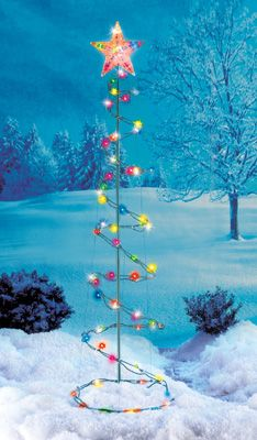5 lighted spiral christmas tree yard art decoration