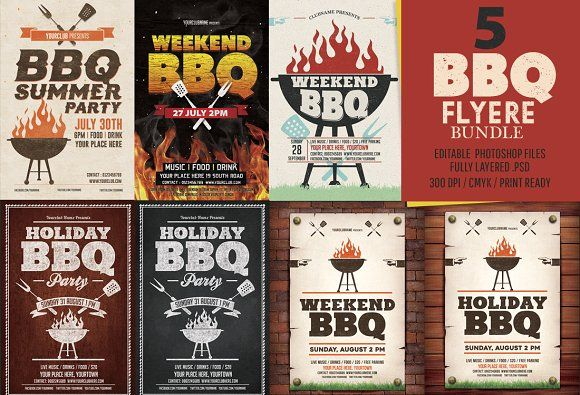 Newkoko2020 Bbq Flyer Templates Bundle By Designworkz On