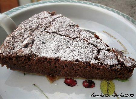 Torta ricotta e cioccolato senza farina | Amichette Cuochette Blog