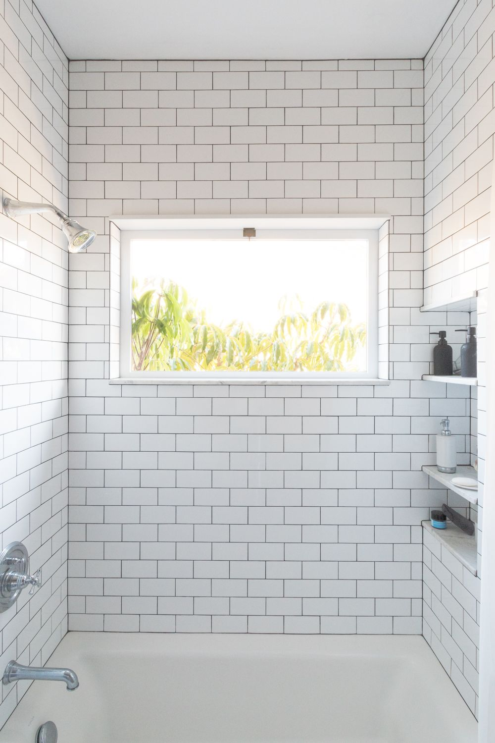 Subway Tile To The Ceiling In A Shower Bathrooms Modern