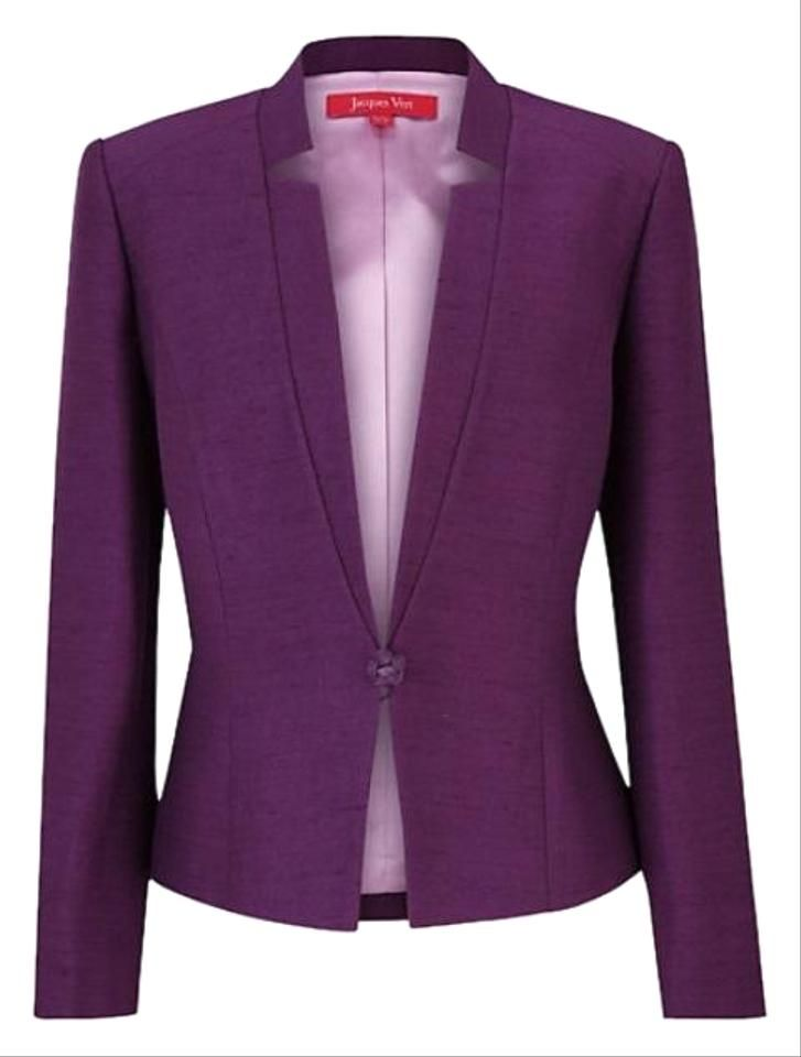 Jacques Vert | Purple Formal Tailored Blazer Size