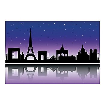 City of Paris Silhouette Backdrop Oriental trading and Backdrops - halloween scene setters decorations