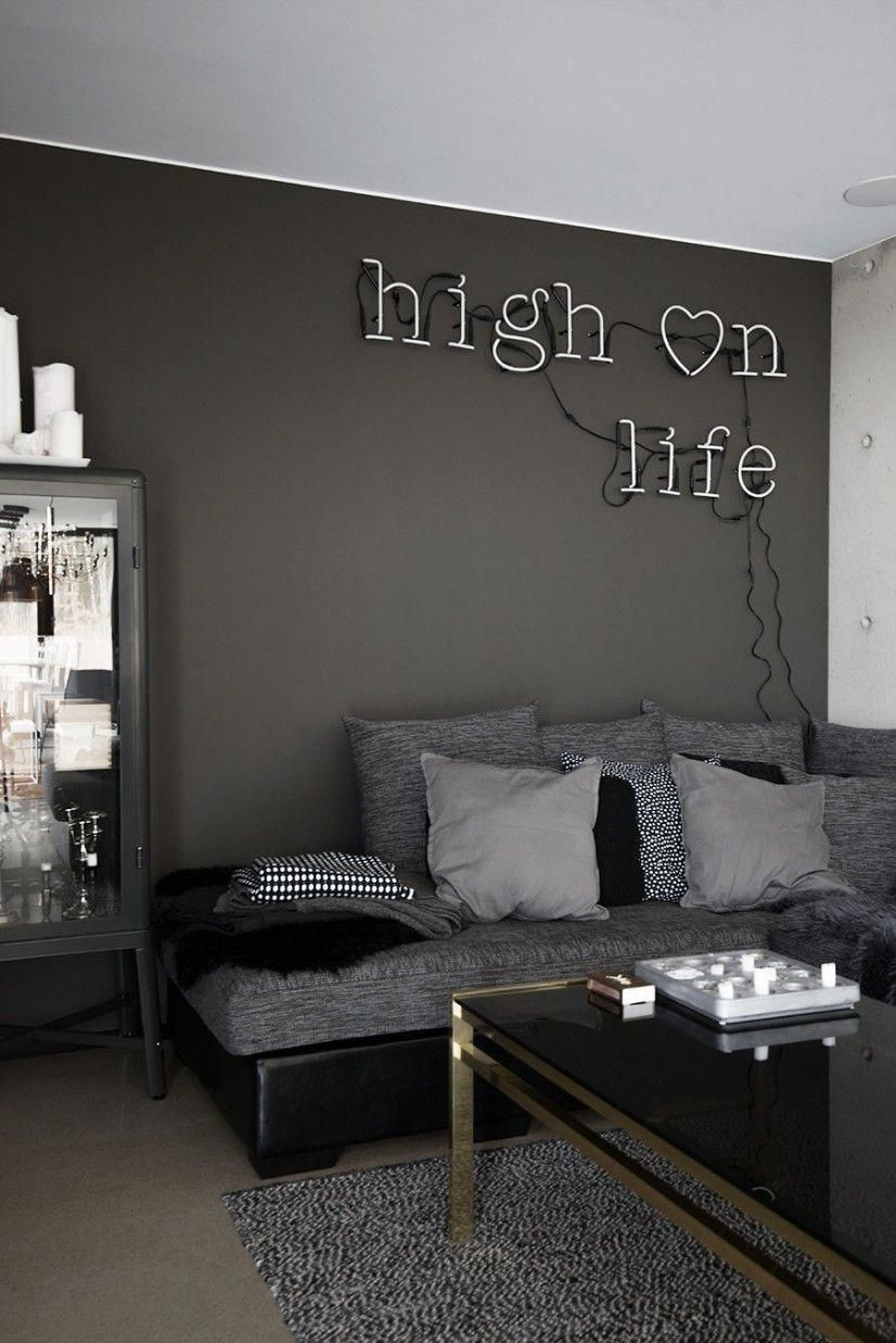 Pin by Kaylah Brown on Apartment decoration | Dark living ...