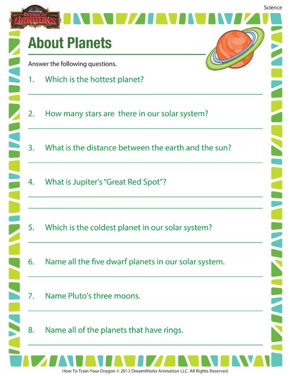 picture regarding Printable Scientific Method Worksheet identify With regards to Planets - Printable science worksheets for 5th quality