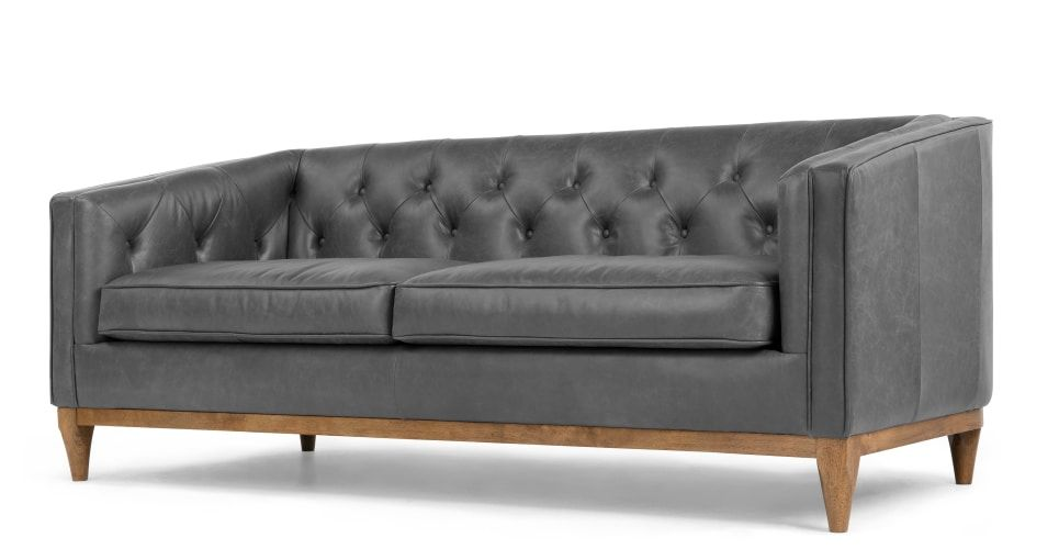 Rogers 3 Sitzer Sofa Premium Leder In Oxfordgrau 3 Sitzer Sofa Modernes Sofa Und Sofas