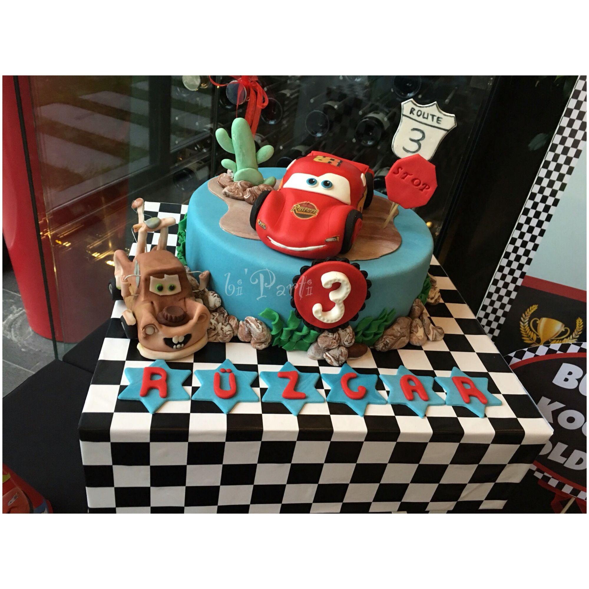 Cars Cake Mcqueen Cake Cars Party Ideas Simsek Mcqueen Pasta